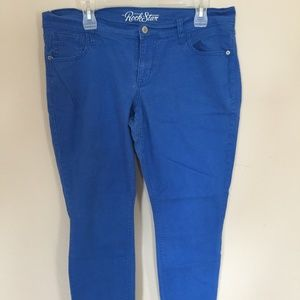 Royal Blue Old Navy Rockstar Jeans Size 16